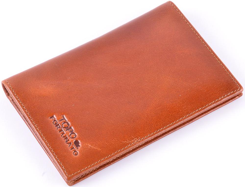 Обложка на паспорт женская Topo Fortunato  Коричневая Юла . TF 225-093 - Обложки для паспорта