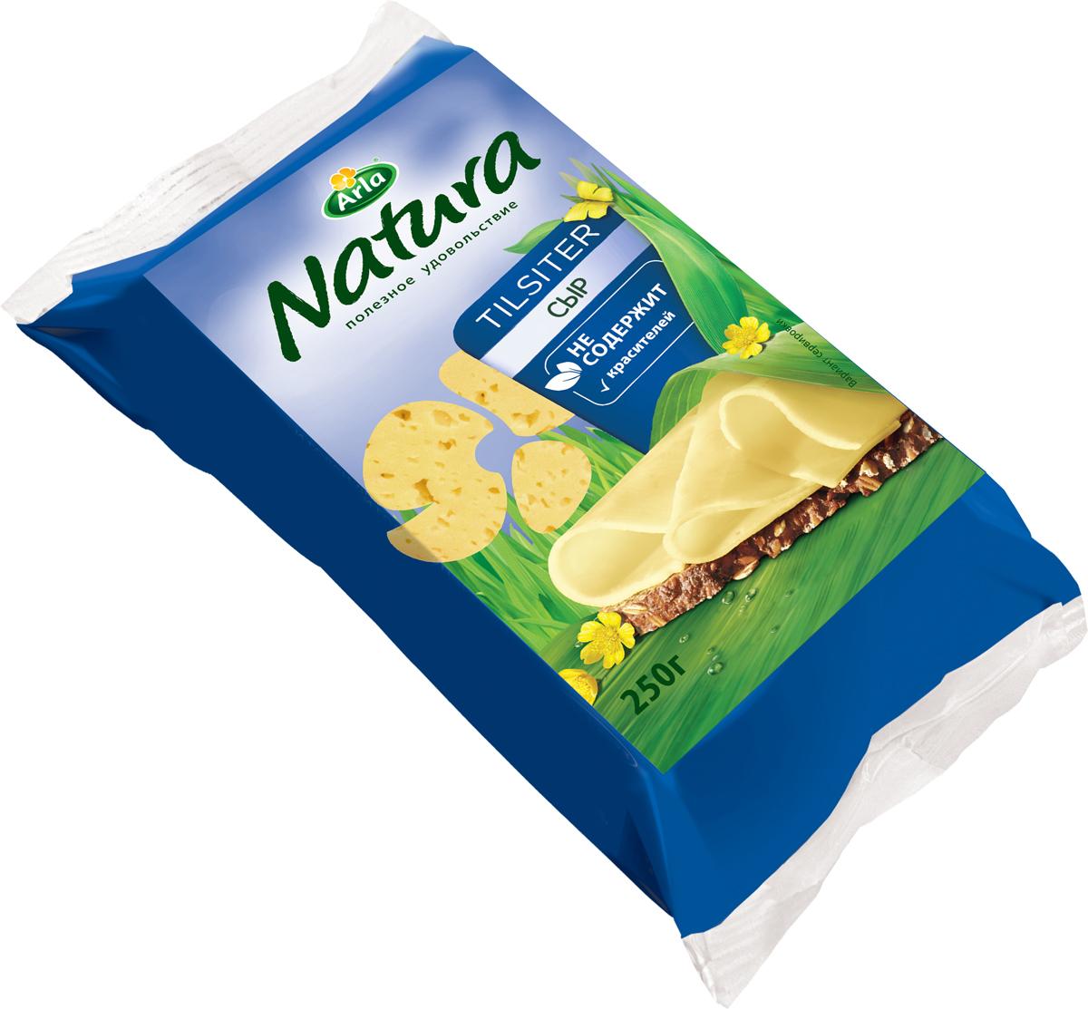 Arla Natura Сыр Тильзитер, 45%, 250 г53598Arla Natura тильзитер изготовлен из натурального коровьего молока и не содержит красителей. Имеет умеренно твердую текстуру с неровными дырочками. Победитель программы Контрольная закупка.