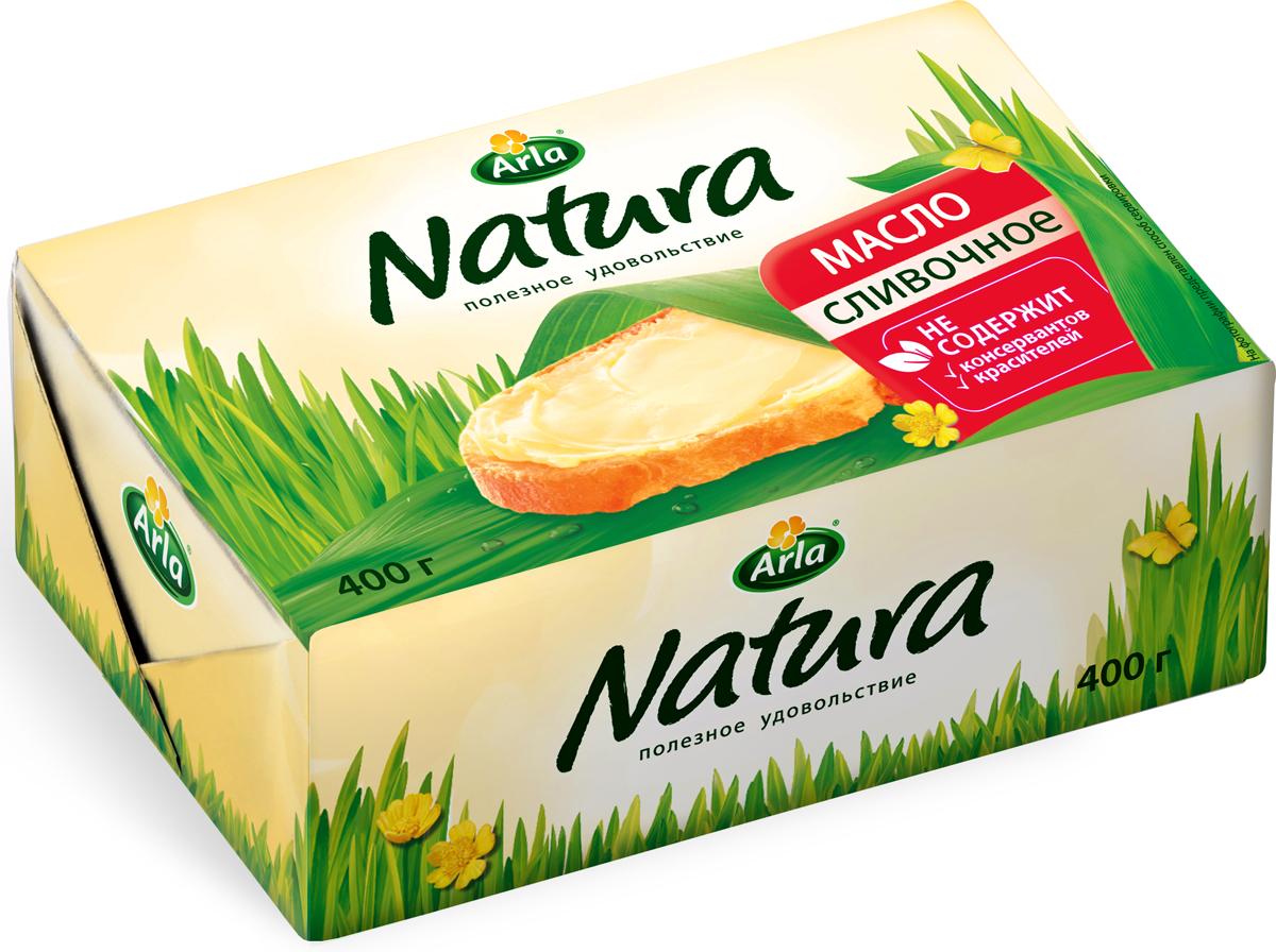 Arla Natura Масло Сливочное, 82%, 400 г58097Масло Arla Natura обладает нежным сливочным вкусом. Производится только из натуральных сливок, без добавления красителей и консервантов. Удобная семейная упаковка!Масла для здорового питания: мнение диетолога. Статья OZON Гид