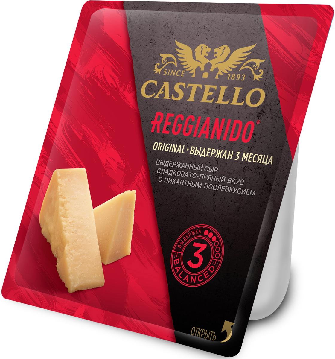 Castello Reggianido Сыр Пармезан выдержка 3 мес, 32%, 150 г67290Выдержанный твердый сыр типа Пармезан с утонченным вкусом и ароматными нотками лесного ореха. Он настоящее украшение как сырной тарелки, так и салатов. Сочетается с красным вином и великолепен с крафтовыми сортами пива. (выдержка 3 мес)