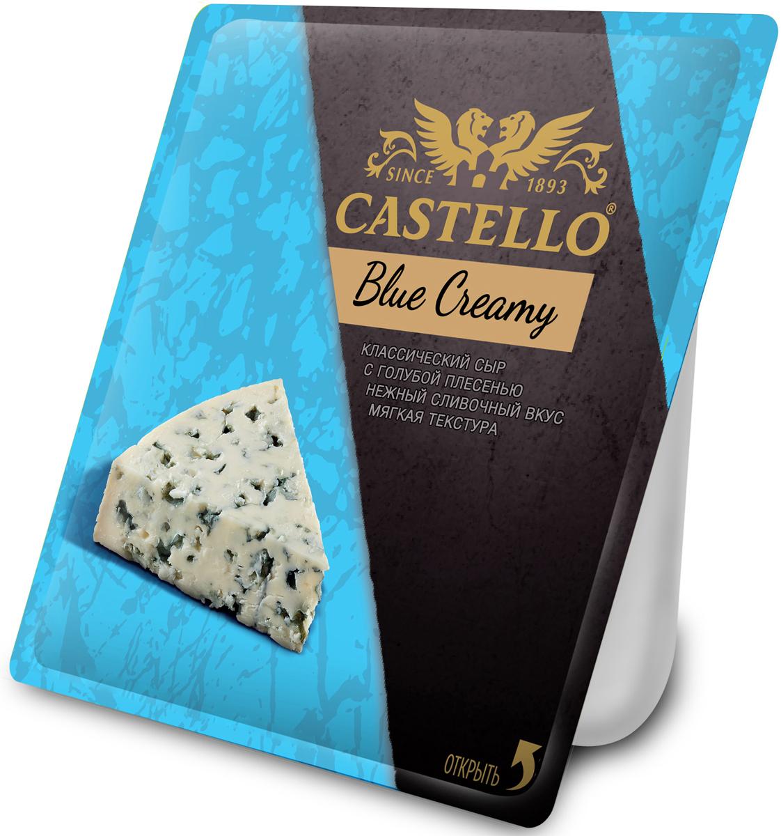 Castello Blue Creamy Сыр с голубой плесенью, 56%, 125 г67286Сыр с голубой плесенью с деликатным сливочным вкусом и нежной мягкой текстурой. Украсит Вашу сырную тарелку, а паста с ним порадует вкус гурмана. Выдержанный портвейн и сладкий рислинг составят отличную пару этому сыру.