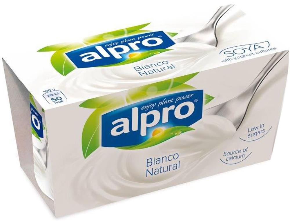 Alpro Йогурт Натуральный соевый, обогащенный кальцием и витаминами, 2 по 125 г