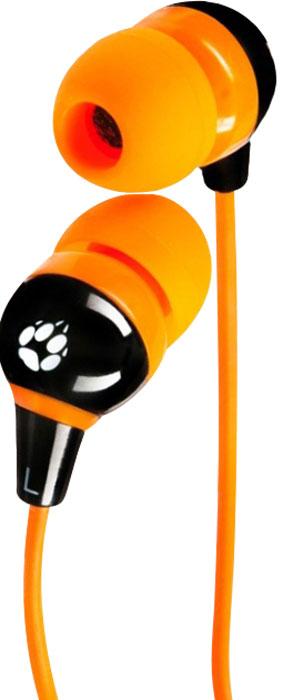 Black Fox BHE517, Black Orange наушникиT017620Высокочувствительная 10-мм мембрана в сочетании с неодимовым магнитом обеспечивают наушникам Black Fox BHE517 превосходное качество звука. Мягкий TPE кабель не спутывается и не ломается. Силиконовые накладки гарантируют идеальное прилегание и отличную шумоизоляцию. Идеально подходят для всех MP3, DVD, CD-плееров, iPod, iPhone, iPad и портативных игровых консолей.