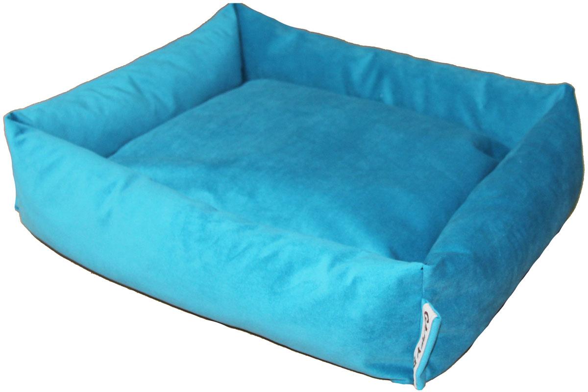 Лежак Gaffy Pet Sofa, цвет: бирюзовый, 65 х 55 х 18 см11214LСерия SOFA - универсальная форма для отдыха. Различные ткани и расцветки на любой вкус. Прочные профессиональные ткани.