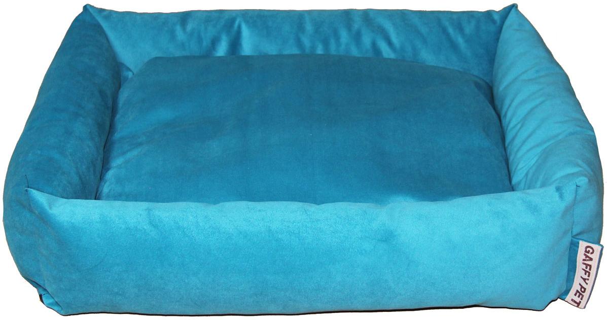 Лежак Gaffy Pet Sofa, цвет: бирюзовый, 55 х 45 х 16 см11224SСерия SOFA - универсальная форма для отдыха. Различные ткани и расцветки на любой вкус. Прочные профессиональные ткани.