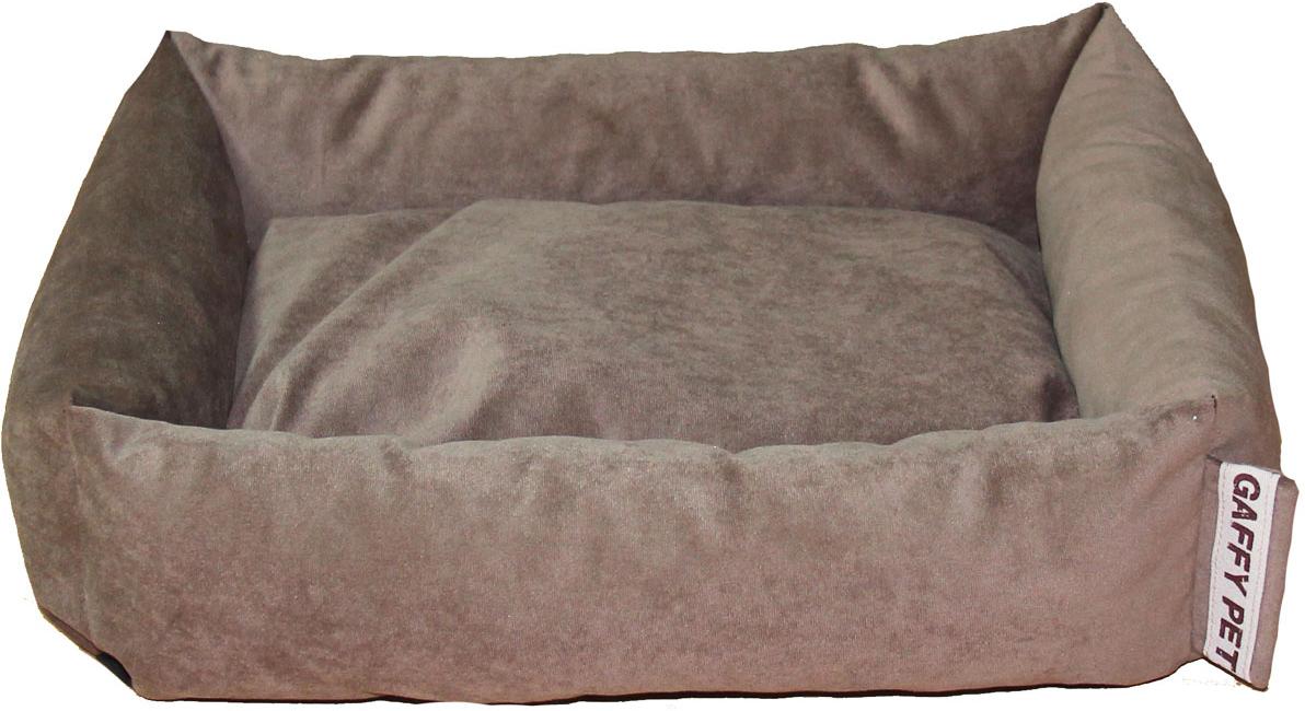 Лежак Gaffy Pet Sofa, цвет: шоколадный, 65 х 55 х 18 см11216LСерия SOFA - универсальная форма для отдыха. Различные ткани и расцветки на любой вкус. Прочные профессиональные ткани.