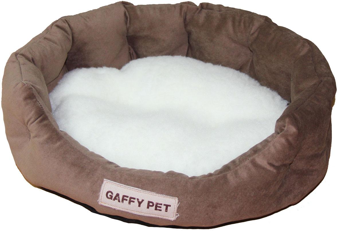 Лежак Gaffy Pet Soft, цвет: шоколадный, 45 х 35 х 14 см карабин v i pet цвет серебристый 6 х 39 мм 096z 14 np
