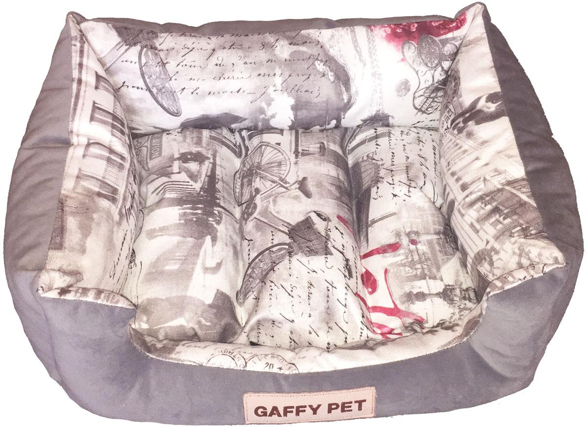 Лежак Gaffy Pet City, цвет: серый, 45 х 35 х 22 см11234 MНовая коллекция из серии ГОРОДА из прочных профессиональных тканей. АНТИКОГОТЬ. Высота борта впереди варьируется. Очаровательная расцветка подойдет как кошкам, так и собакам. Можно стирать на ручном режиме в стиральной машине и чистить щеткой.