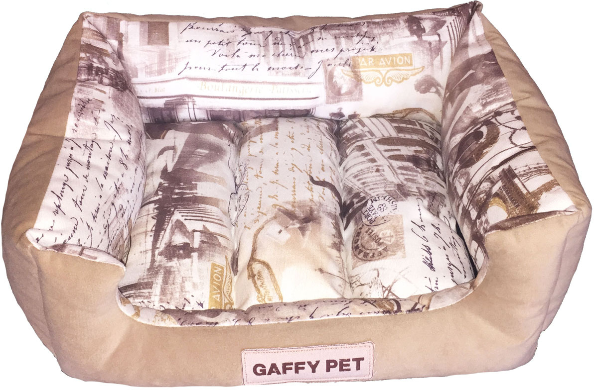 Лежак Gaffy Pet City, цвет: бежевый, 55 х 45 х 23 смL007_голубойНовая коллекция из серии ГОРОДА из прочных профессиональных тканей. АНТИКОГОТЬ. Высота борта впереди варьируется. Очаровательная расцветка подойдет как кошкам, так и собакам. Можно стирать на ручном режиме в стиральной машине и чистить щеткой.