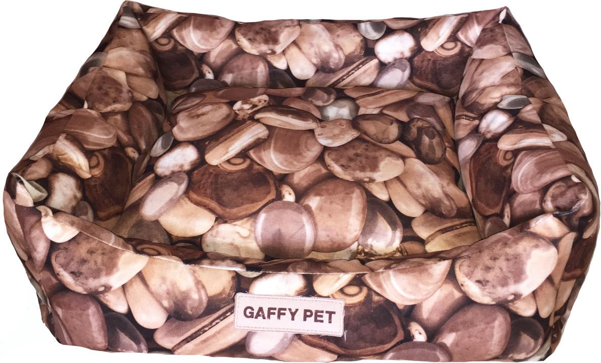 "Лежак Gaffy Pet ""Stone"", цвет: коричневый, 55 х 45 х 23 см"