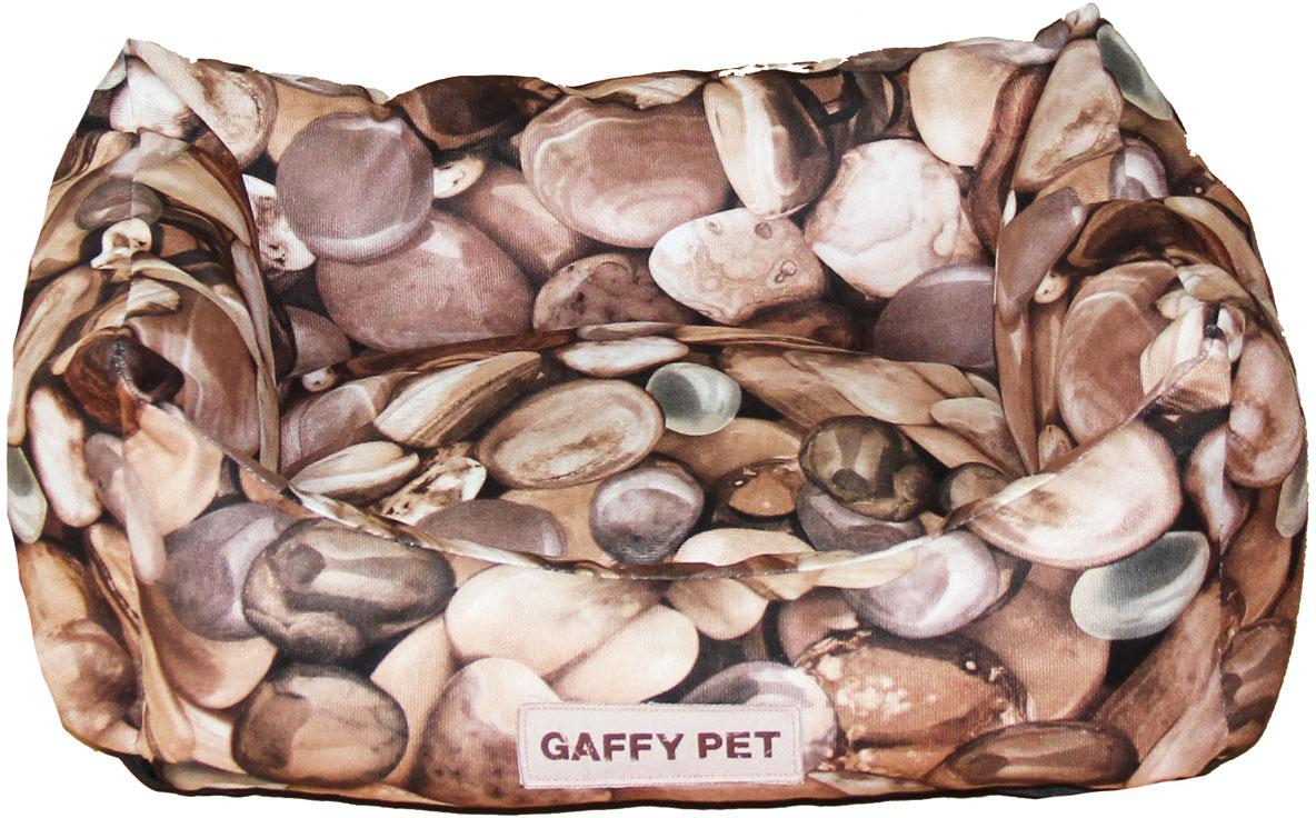 Лежак Gaffy Pet Stone, цвет: коричневый, 45 х 35 х 22 см цена