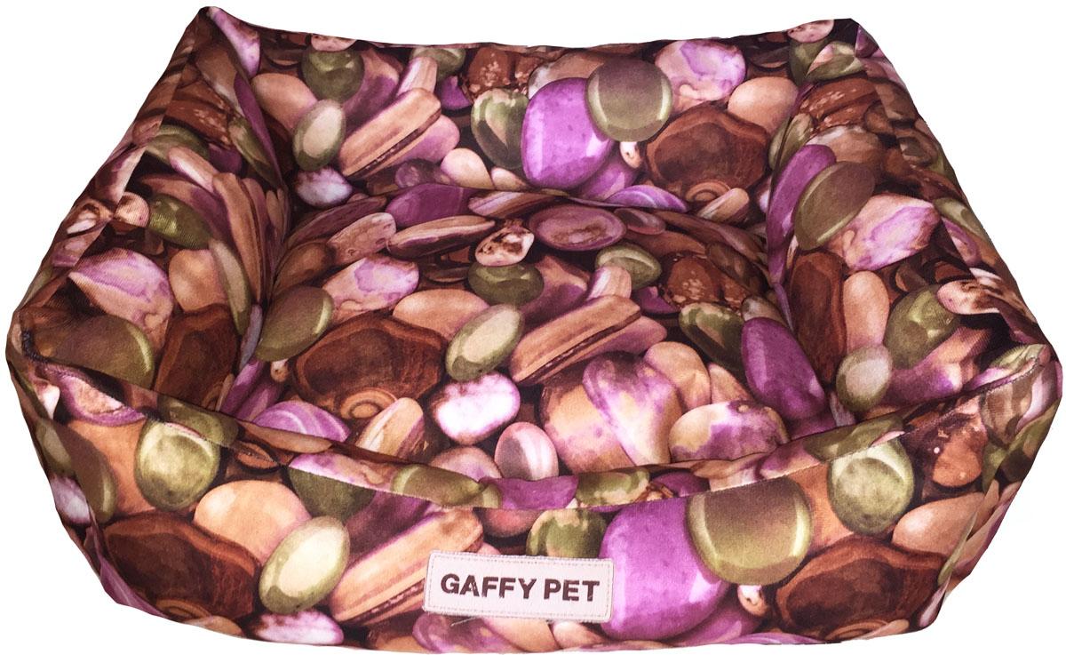 Лежак Gaffy Pet Stone, цвет: розовый, 55 х 45 х 23 см11257MНовая коллекция из серии КАМНИ Stones из прочных профессиональных тканей. АНТИКОГОТЬ.