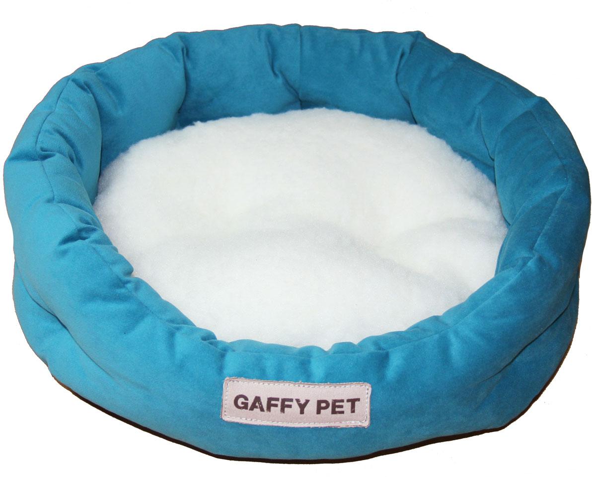 Лежак Gaffy Pet Soft, цвет: бирюзовый, 45 х 35 х 14 см11220 SСерия SOFT - уютные корзинки для питомцев. Мягкие и комфортные подушки придутся по душе всем питомцам. Дизайны универсальны для любого интерьера.