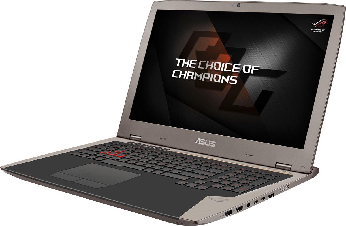 ASUS ROG G701VIK (G701VIK-BA045T)G701VIK-BA045TДля тех, кто предпочитает мощные, но мобильные решения, команда ROG предлагает ноутбук G701. За счет мощной конфигурации, включающей в себя разгоняемую видеокарту NVIDIA GeForce GTX 1080, он ничуть не уступает по своей производительности стационарным геймерским компьютерам самого высокого класса.В аппаратную конфигурацию ноутбука ROG G701VI входит мощная видеокарта NVIDIA GeForce GTX 1080 и разгоняемый процессор Intel i7-7820HK, поэтому он сравним по производительности со стационарными геймерскими компьютерами самого высокого класса. Что удивительно, все эти компоненты умещаются в стильном корпусе толщиной не более 3,5 см, а значит, в отличие от стационарных систем, такую игровую станцию можно легко взять с собой в дорогу!Видеокарта NVIDIA GeForce GTX 1080 предлагает полную совместимость с современными системами виртуальной реальности и высокую производительность, необходимую для их надлежащей работы.ROG G701VIK оснащается дисплеем с повышенной частотой обновления (120 Гц) и поддержкой технологии адаптивной синхронизации NVIDIA G-Sync. Благодаря G-Sync устраняется неприятный эффект разрыва кадра и уменьшается задержка отображения, что обеспечивает как более высокое качество картинки, так и улучшенную реакцию игры на действия пользователя.Клавиатура ноутбука ROG G701 может похвастать продуманной эргономикой и прекрасно обрабатывает одновременное нажатие до 30 клавиш. Кроме того, у нее имеются дополнительные клавиши, которые программируются на выполнение серий команд (макросов). Удобная и функциональная, она станет большим подспорьем для победы в любимой игре.В звуковой подсистеме ноутбука ROG G701 используется цифроаналоговый преобразователь ESS Sabre, который обеспечивает высококачественное звучание с увеличенным динамическим диапазоном и поддерживает аудиофильский формат 384 кГц / 32 бита. Для более мощного воспроизведения низких частот применен усилитель, также разработанный специалистами фирмы ESS.В ноутбуке ROG G701