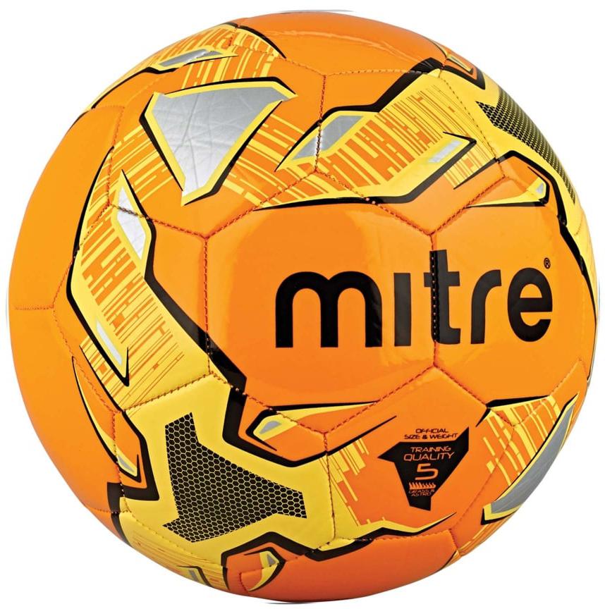 Мяч футбольный Mitre Impel. Размер 5BB1052OYBТренировочный мяч Слой из 3,5 mm пены для дополнительной мягкости при контакте с мячом Надолго сохраняющая давление бутиловая камера Страна производитель: Пакистан Машинная сшивка Отличный всепогодный мяч Подходит для пляжного футбола