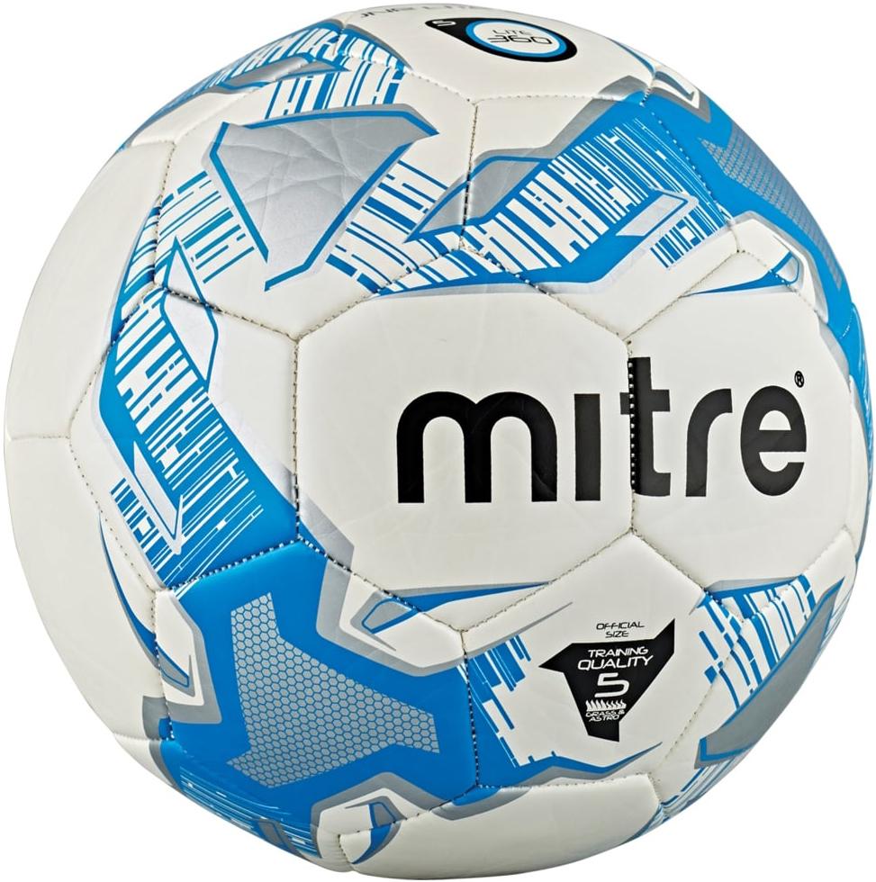 Мяч футбольный Mitre Junior Lite 360. Размер 5BB9005WKRТренировочный облегчённый мяч. Размер 5. Вес 360 г. Панелей 32.