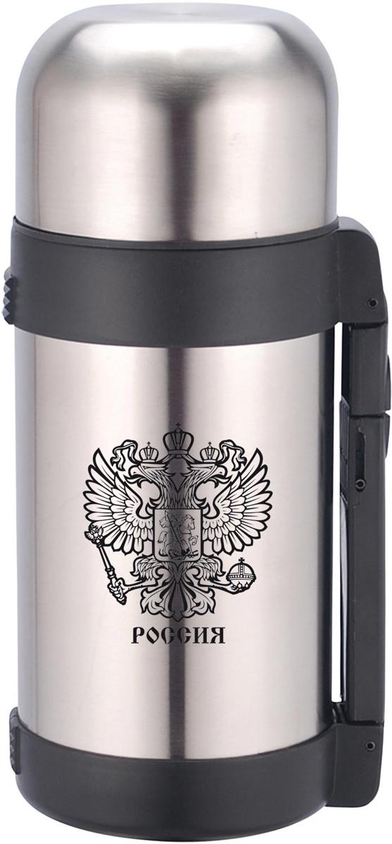 Термос Rainstahl Герб, цвет: стальной, 1 л. 7731-10LRS\TH7731-10LRS\THТермос универсальный с широким горлом. Объем 1 литр. Корпус металлический с декоративным рисунком.