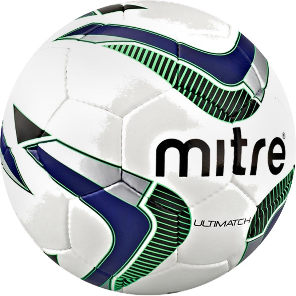 Мяч футбольный Mitre Ultimatch. Размер 3BB1089WP4Для изготовления футбольного мяча Mitre Ultimatch 32P DV использовали современную синтетическую кожу, отличающуюся качеством, износостойкостью. Модель имеет сертификат FIFA. Футбольный мяч Mitre Ultimatch 32P DV имеет три подкладочных слоя, которые гарантируют прочность. Латексная камера хорошо сохраняют давление воздуха.