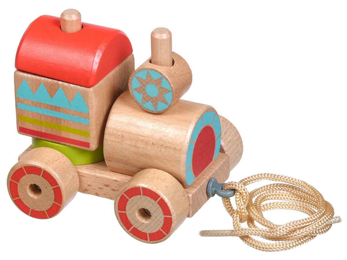 Lucy&Leo Игрушка-каталка Паровозик-пирамидка lucy&leo сортер занимательная коробка