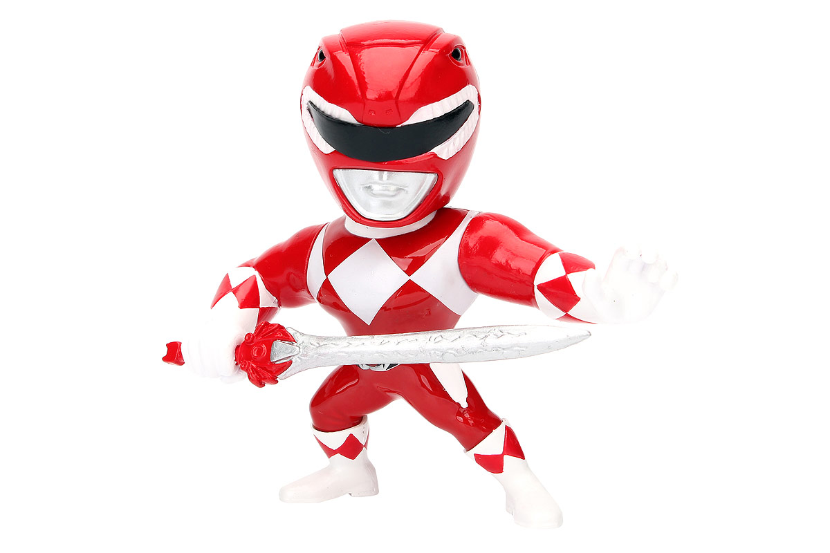 Jada Могучие рейнджеры Фигурка Red Ranger фигурка jada armored batman 10 см металлическая