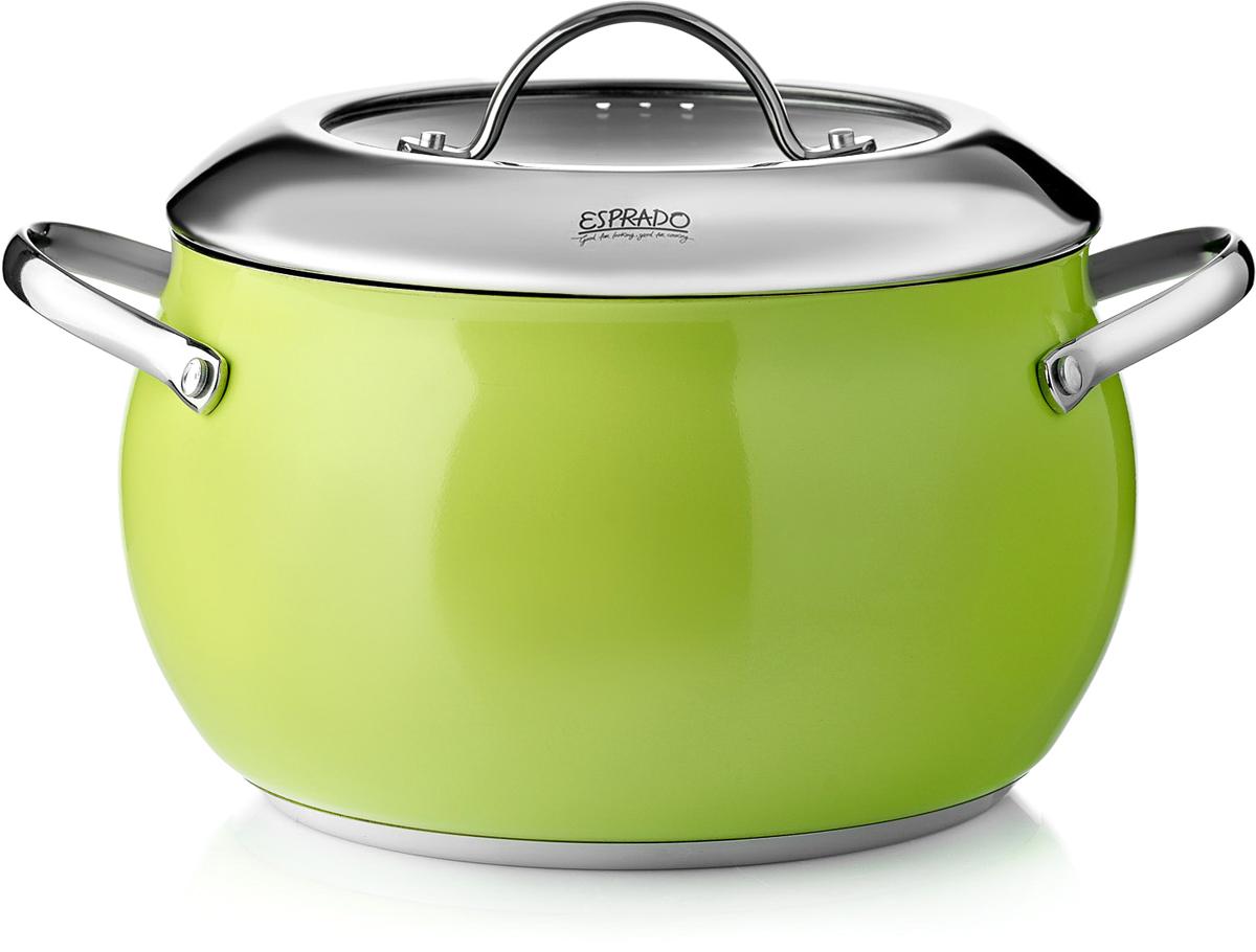Кастрюля Esprado Ritade c крышкой, цвет: зеленый, 3,3 л dolce&amp gabbana w15072466414