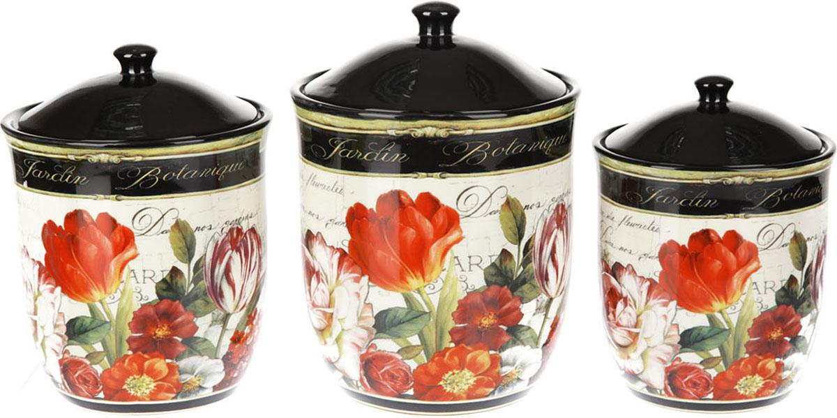 Набор банок Certified International Цветущий сад, 3 предмета набор для специй certified international веселый санта 2 предмета
