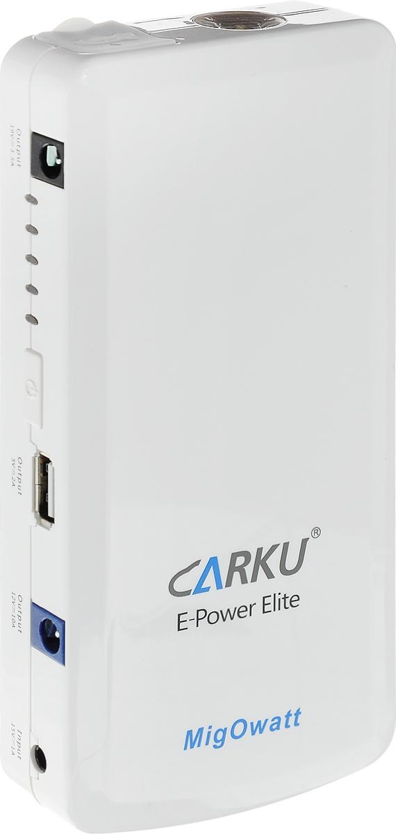 Пуско-зарядное устройство Carku E-Power Elite 12000 мАч (44,4 Вт/ч)6956229900017Пуско-зарядное устройство Carku E-Power Elite поможет легко и многократно запустить двигатель вашего автомобиля в чрезвычайной ситуации. Предназначено как для бензиновых, так и для дизельных двигателей. Вы можете воспользоваться им и для зарядки мобильных устройств: телефона, планшета, ПК, камеры; питания портативного ТВ, автомобильного холодильника, радиостанции. Встроенный в устройство светодиодный фонарь поможет вам в темное время суток. Он светит в 3 режимах: освещение, SOS, мигающий. Устройство поставляется в кожаной сумке на молнии. Специальный смарт кабель имеет встроенную интеллектуальную систему управления батареей, защиту от переполюсовки, короткого замыкания, перегрузки, а также от чрезмерного заряда/разряда. Преимущества: - Качественная сборка и надежность используемых компонентов. - Современный эргономичный дизайн. Интеллектуальные пусковые провода. - Запатентованная технология производства. - Использование мощной батареи высокой емкости. Срок службы: около 1000 циклов полного разряда/заряда (3 года). Технические характеристики: Емкость: 12000 мАч (44,4 Вт/ч). Объем двигателя автомобиля для пуска (зимой): до 3 л(бензин); до 1.8 л (дизель). Объем двигателя автомобиля для пуска (летом): до 6 л(бензин); до 3 л (дизель). Стартовый ток: 200 А. Пиковый ток: 400 А. Время полной зарядки: 4,5 часа. Напряжение: 12 В. Диапазон рабочих температур: -30°C +60°C. Вес: 410 г.