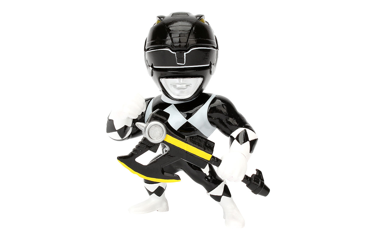 Jada Могучие рейнджеры Фигурка Black Ranger фигурка jada armored batman 10 см металлическая