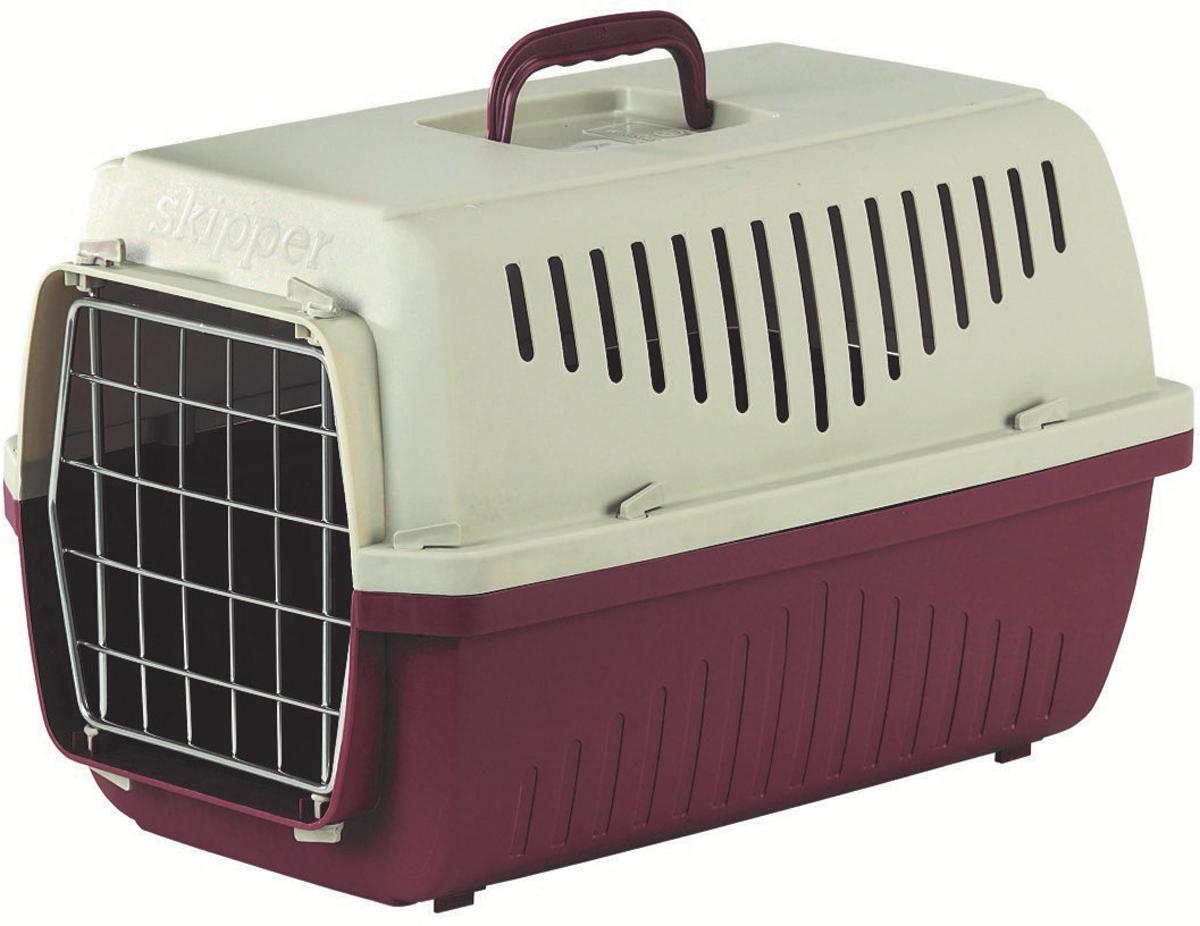 Переноска Marchioro Skipper 1F, цвет: малиновый, бежевый, 48 х 32 х 31 см, с металлической дверцей1060300100035Переноска очень удобна для транспортировки кошек и небольших собак. Выполненная из высококачественного пластика переноска имеет отверстия, которые обеспечивают поступление воздуха внутрь и делают пребывание питомца в ней комфортным. Легко разбирается и моется. Вес животного для данной переноски от 3 до 10 кг.Соответствует стандартам ж/д перевозок.Прикольные переноски, которые наверняка понравятся питомцу. Статья OZON Гид