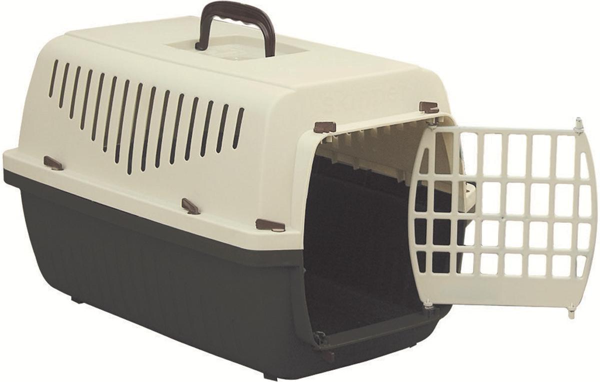 Переноска Marchioro Skipper 1P, цвет: коричневый, бежевый, 48 х 32 х 31 см, с пластиковой дверцей - Переноски, товары для транспортировки