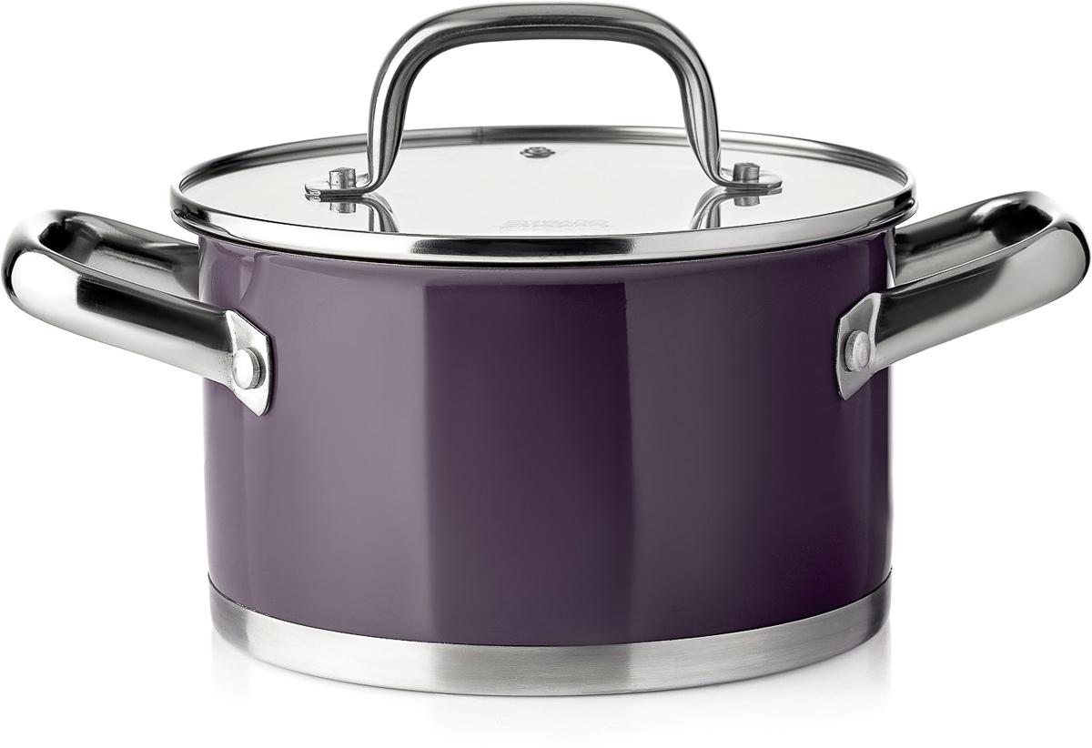 Кастрюля Esprado Uva Norte с крышкой, цвет: фиолетовый, 2,3 л кастрюля esprado uva norte с крышкой цвет фиолетовый 2 3 л