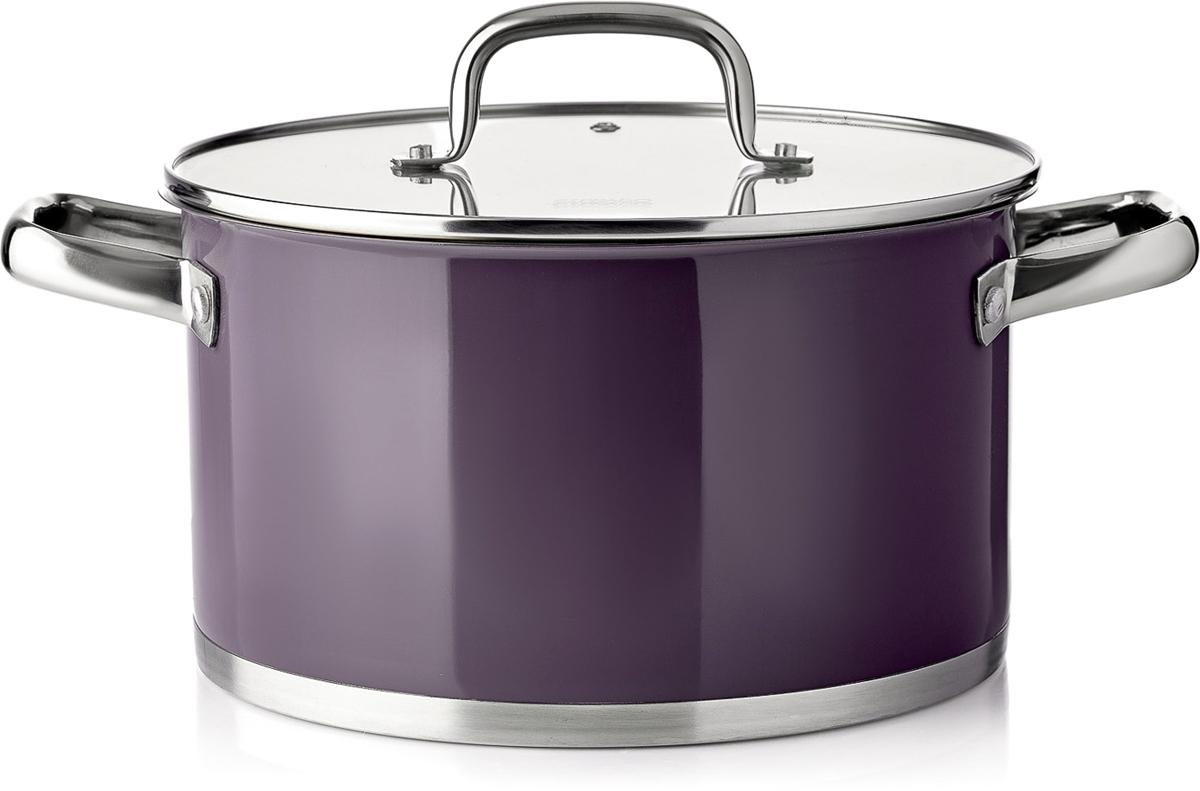 Кастрюля Esprado Uva Norte с крышкой, цвет: фиолетовый, 5,7 л кастрюля esprado uva norte с крышкой цвет фиолетовый 2 3 л
