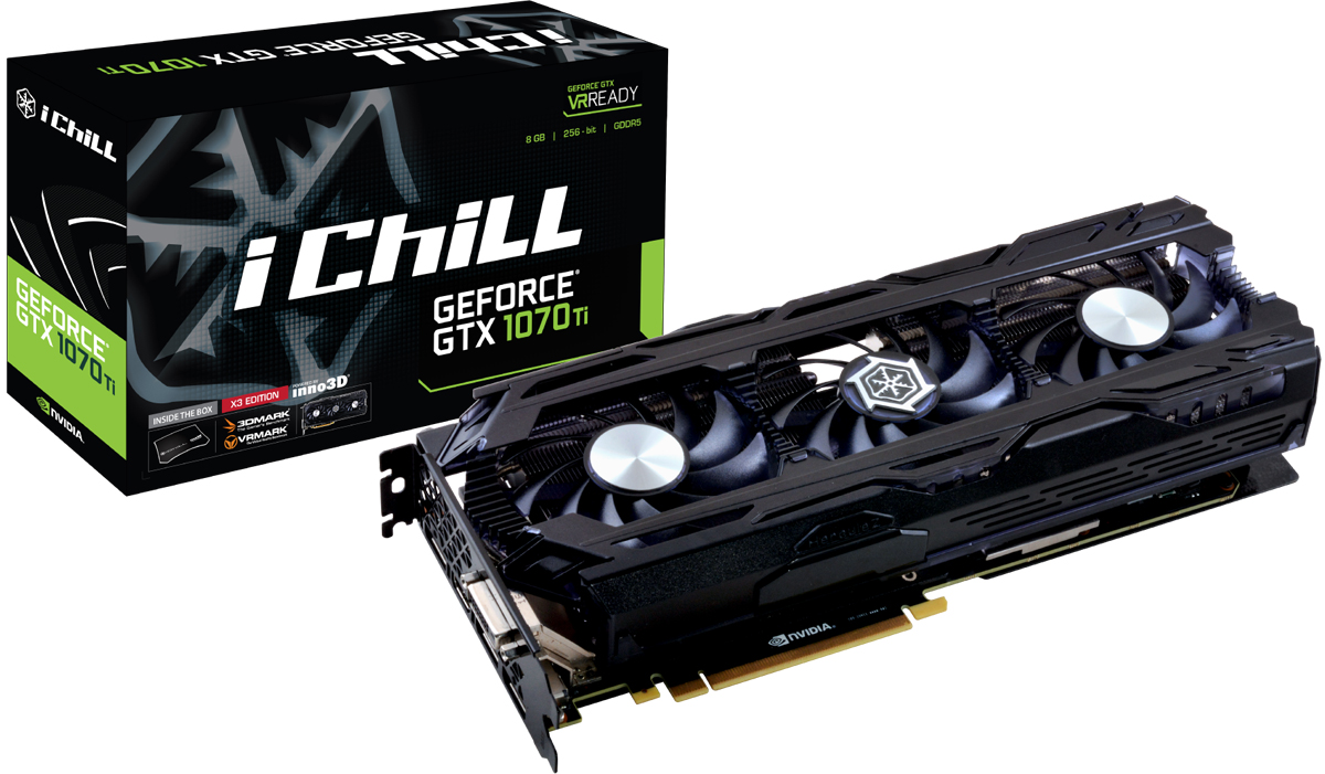 Inno3D GeForce GTX 1070 Ti iChill X3 8Gb видеокарта (C107T3-1SDN-P5DN)