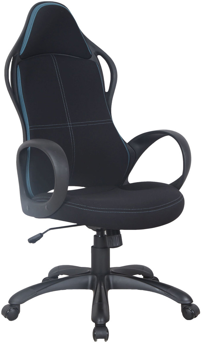Кресло офисное Brabix Force EX-516, цвет: черный, синий531572Эргономичное и практичное кресло. Специальная формовка спинки и сиденья обеспечивает комфорт в процессе эксплуатации. Оригинальный, выразительный дизайн со вставками ткани контрастирующих цветов. Модель оснащена механизмом качания. Материал обивки - мебельная ткань, стойкая к повреждению и выцветанию. Механизм качания Top-Gun с регулировкой под вес и фиксацией. Подлокотники и пятилучие - пластиковые, повышенной прочности. Эргономичная конструкция спинки. Регулируемая высота сиденья. Просторное мягкое сидение. Рекомендуемая нагрузка на кресло до 120 кг. Цвет обивки - комбинация черного и синего.