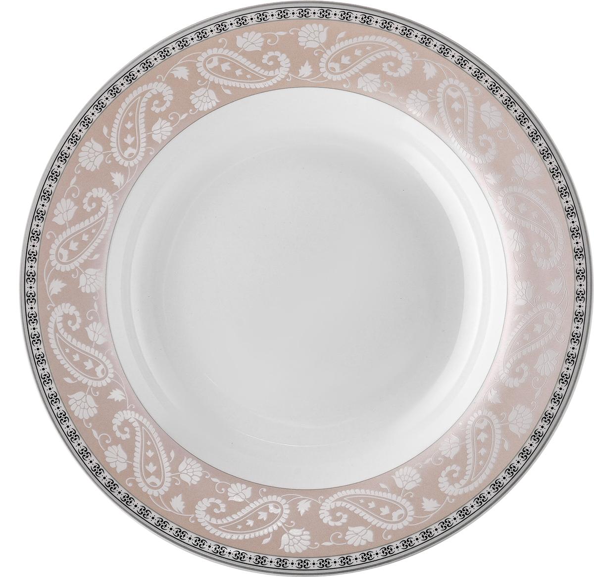 Набор обеденных тарелок Esprado Arista Rose, диаметр 22,5 см, 6 шт посуда из фарфора оптом