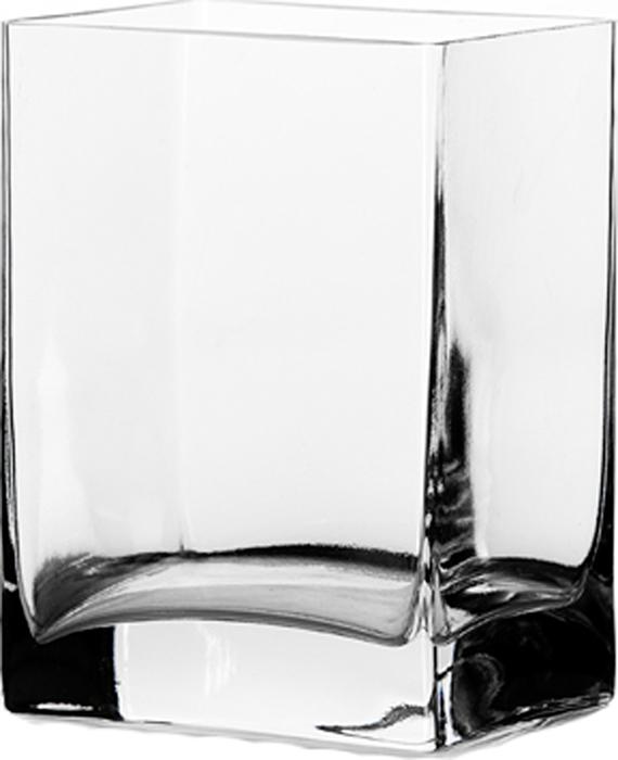 "Ваза Pasabahce ""Ботаника"", прямоугольная, цвет: прозрачный, 10 х 8 х 14 см"