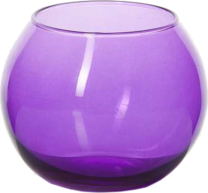 """Ваза Pasabahce """"Энжой"""", цвет: фиолетовый, 7,9 см"""