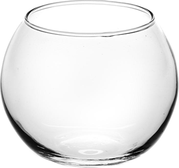"Ваза Pasabahce ""Флора"", круглая, цвет: прозрачный, высота 10,2 см"