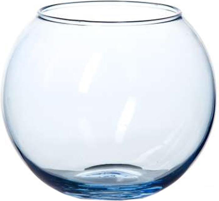 Ваза Pasabahce Энжой Скай, цвет: голубой, 10,2 см43417SLBD14Ваза круглая цвета чистого неба h=102,5 мм, диаметр горловины 85 мм.