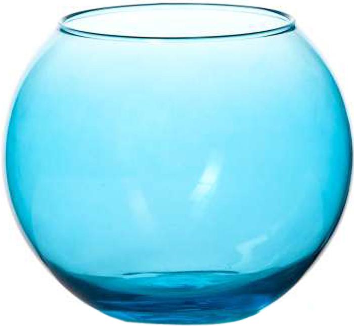 """Ваза Pasabahce """"Энжой Блю"""", цвет: синий, 10,2 см"""