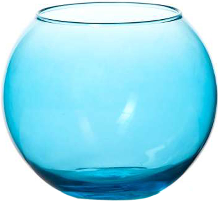 Ваза Pasabahce Энжой Блю, цвет: синий, 10,2 см43417SLBD2Ваза круглая синего цвета h=102,5 мм, диаметр горловины 85 мм.
