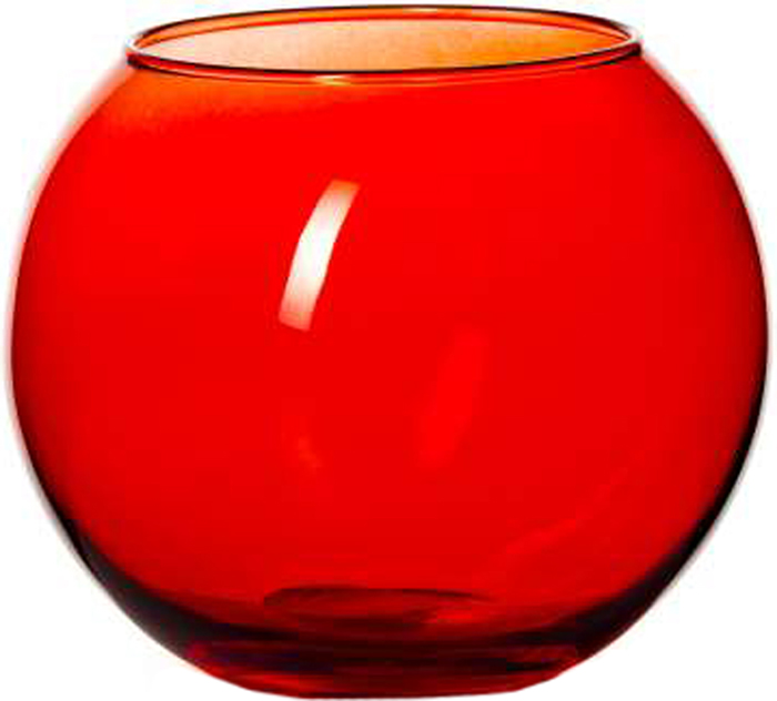 Ваза Pasabahce Энжой Рэд, цвет: красный, 10,2 см43417SLBD3Ваза круглая красного цвета h=102,5 мм, диаметр горловины 85 мм.