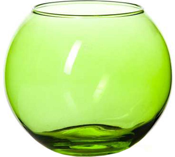 Ваза Pasabahce Энжой Грин, цвет: зеленый, 10,2 см43417SLBD5Ваза круглая зеленого цвета h=102,5 мм, диаметр горловины 85 мм.