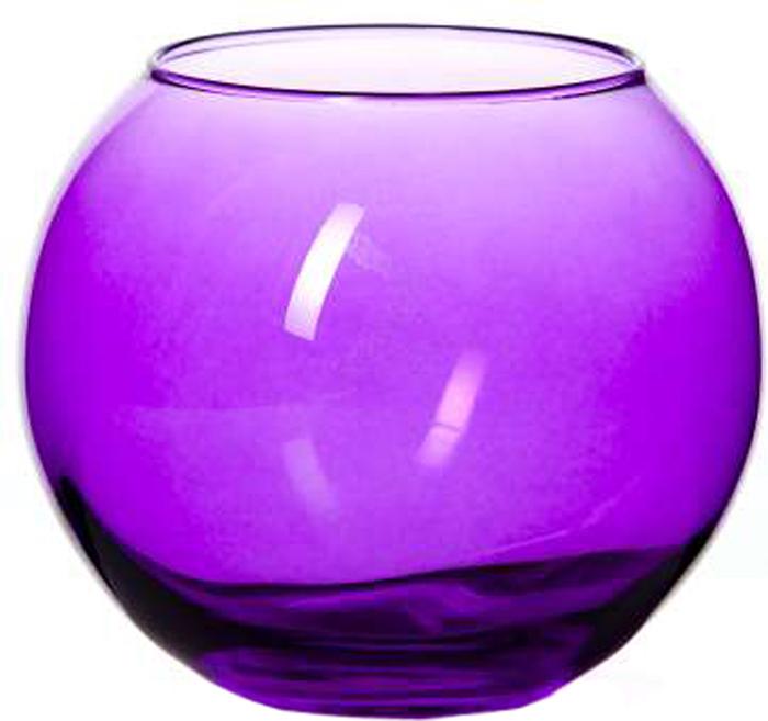 Ваза Pasabahce Энжой Пепл, цвет: фиолетовый, 10,2 см43417SLBD6Ваза круглая фиолетового цвета h=102,5 мм, диаметр горловины 85 мм.