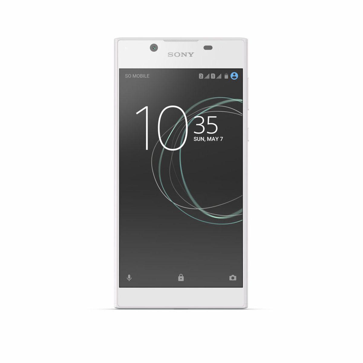 Sony Xperia L1, White1308-0786Xperia L1 не только стильно выглядит, но и удобно лежит в руке благодаря своим закругленным эргономичным граням. Smart Cleaner обеспечивает оптимальную производительность смартфона. Эта функция анализирует, как вы пользуетесь своим устройством, отключает ненужные приложения и очищает кэш.