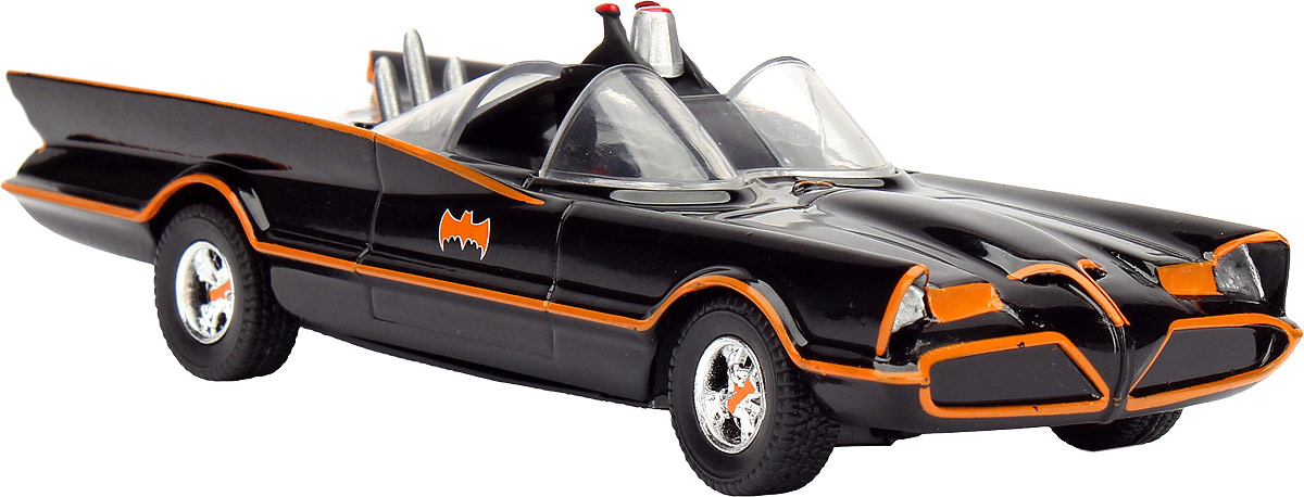 Jada DC Comics Набор фигурок Batmobile 1966 Classic Batmobile-Free Rolling