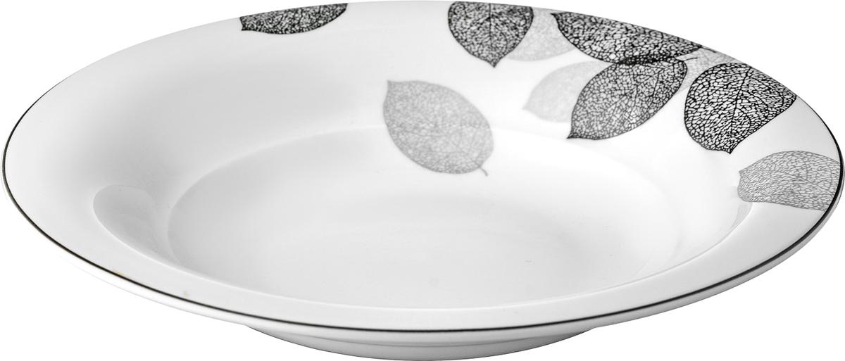 """Набор Esprado """"Bosqua Platina"""" состоит из шести суповых тарелок,  выполненных из высококачественного костяного фарфора.  Над созданием дизайна коллекций посуды из фарфора Esprado работает  международная команда  высококлассных дизайнеров, не только воплощающих в  жизнь все новейшие тренды, но также и  придерживающихся многовековых традиций при  создании классических коллекций.  Посуда из костяного фарфора будет идеальным выбором,  для тех, кто предпочитает красивую современную посуду  из высококачественного материала, которая отличается  высокой прочностью и подходит для ежедневного  использования.  Коллекция """"Bosqua Platina"""" для тех, кто находится в поиске смелых и уникальных  идей для своей кухни! В основе дизайна этой коллекции лежит мотив танца  осенних листьев, который не только радует глаз, но и наилучшим образом  преподносит красоту блюда, с любовью приготовленного хозяйкой.  Можно использовать в микроволновки печи и мыть в  посудомоечной машине."""