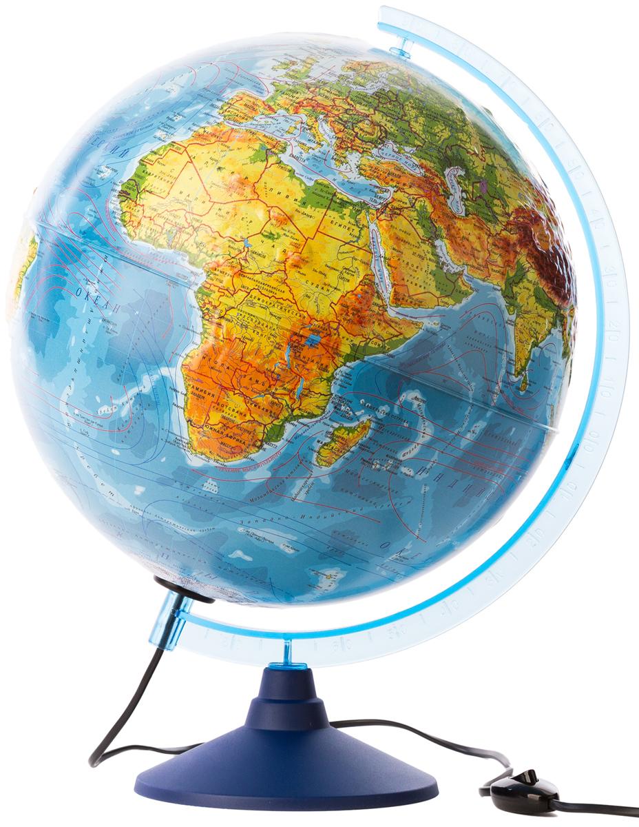 Globen Глобус Земли физико-политический Рельефный с подсветкой диаметр 32 см