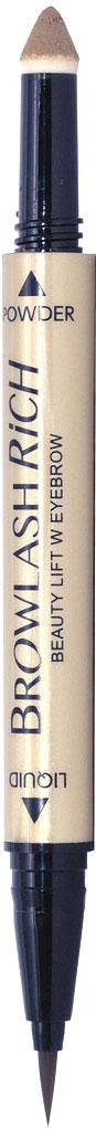 BCL Водостойкая подводка для бровей, жидкая подводка + пудра-карандаш, для лифтинг-макияжа, цвет: светло-коричневыйKLPL09Не секрет, что правильно выполненный лифтинг-макияж позволяет женщине визуально сбросить несколько десятков лет. Представляем новое многофункциональное средство для бровей, с помощью которого Вы выполните идеальный макияж. Преимущества продукта: Мягкое нанесение. Прорисовывая брови по росту волосков, Вы получаете красивые, естественные брови. Легко прорисовывается каждый волосок, в том числе кончики бровей. Эффект густых бровей. Пудра плотно ложится на брови, слегка осветляя их, как после использования туши. Восковая пудра не осыпается. Стойкость. Благодаря использованию насыщенной жидкой подводки для прорисовки кончиков и на основе цветных пигментов брови остаются густыми, красивыми и аккуратными течение 24 часов. Уход. В состав входит 10 косметических компонентов для ухода за кожей подвергшейся возрастным изменениям (гиалуронат натрия, маточное молочко, коллаген, шелк, пантенол, сквалан, оливковое масло, экстракт корня ремании клейкой, экстракт сверции, экстракт листьев розмарина). Это средство разработано для Вас, если: Ваши брови истончились после чрезмерного удаления волосков; Вам не удается красиво прорисовать кончики бровей; Вы хотите получить красивые, густые брови при помощи одного средства.Как создать идеальные брови: пошаговая инструкция. Статья OZON Гид