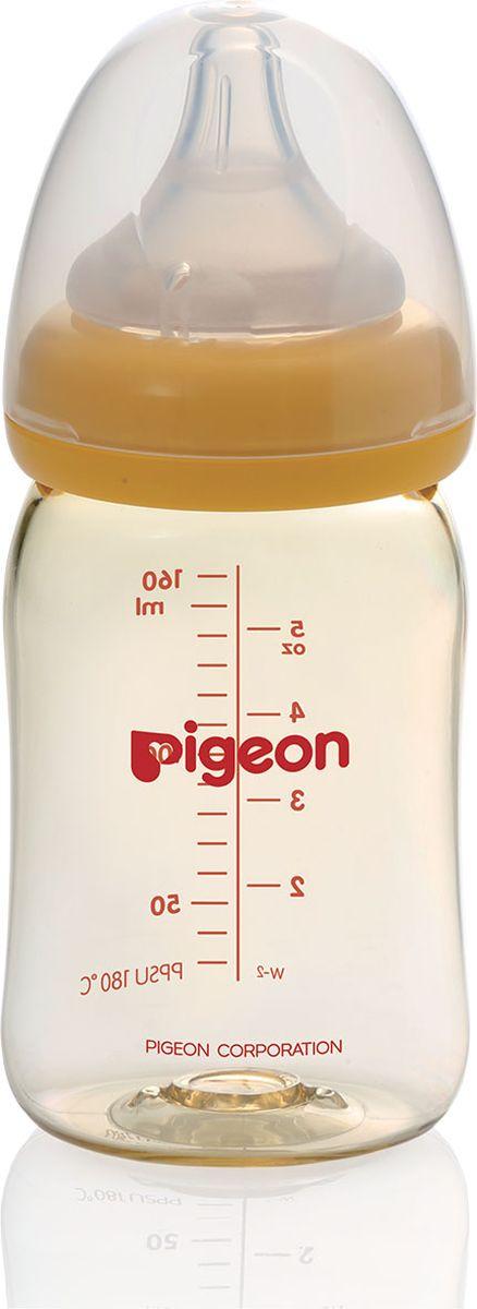 Pigeon Бутылочка для кормления Перистальтик Плюс 160 мл pigeon softouch бутылочка для кормления перистальтик плюс 160 мл